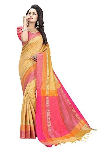 Coton Indien Usure Cause À Effet Et Faire La Fête Avec Le Chemisier Pakistani Sari Orange, Décousus