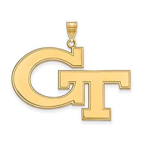 Georgia Tech Extra Large (1 Inch) Pendant (14k Yellow Gold) by LogoArt