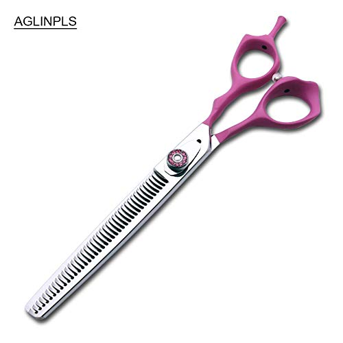 AGLINPLS Cat Grooming Scissors Dog Grooming Shears Pets Scissors Curved Thinning Shears 7inch/7.5inch/8Inch (Thinning, 7.5inch)