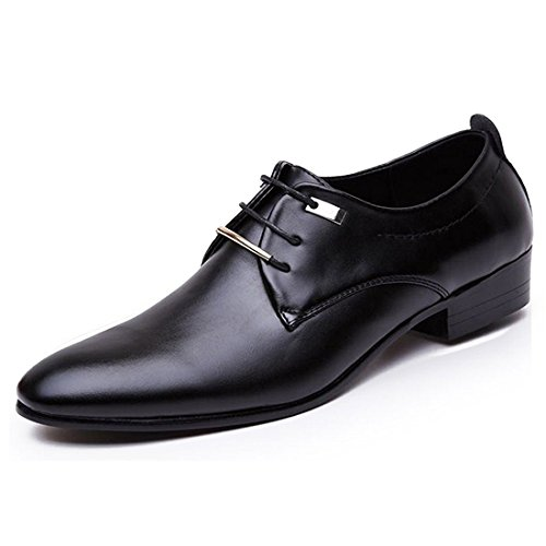 JINGJING Men's Pointed Toe Lace up Formal Oxfords Business Casual Wedding Dress Shoes by JINGJING (Image #1)