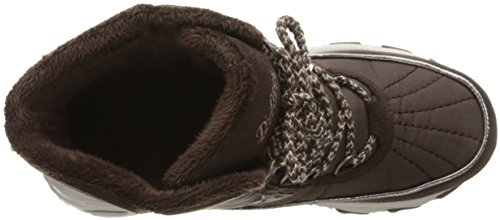 Collar Women's Winter Fur Heathered Chateau Faux Chocolate Skechers D'Lites Boot TSxwRqnqPZ