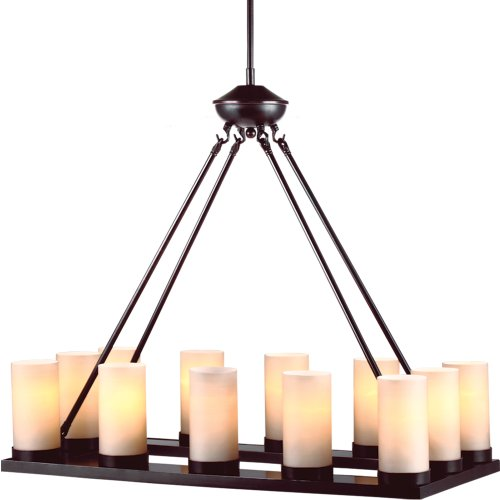 (Sea Gull Lighting 31588-710 Ellington Twelve Light Chandelier, Burnt Sienna Finish)