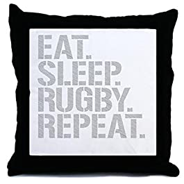 CafePress – Eat Sleep Rugby Repeat – Decor Throw Pillow (18″x18″)