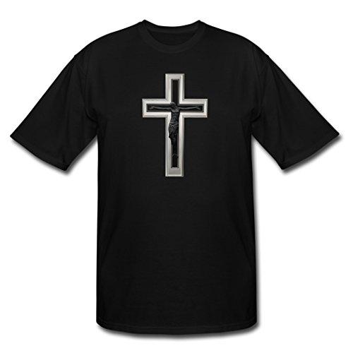 Top Sky 1 Fashioable Design Black Christian Cross Men's T-Shirt XXL