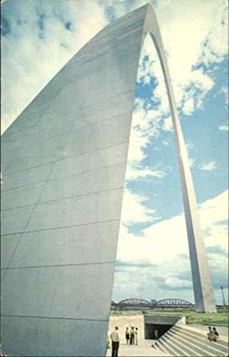 Jeffersons Arch - Base Of The Gateway Arch, Jefferson National Expansion Memorial Original Vintage Postcard