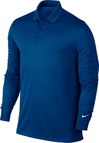 Nike Victory Long Sleeve Golf Polo 2017 Blue Jay/White Large
