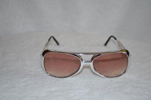 5bebab8660 Small Silver Elvis Sunglasses with Smokey Lens - Aviator Glasses ...