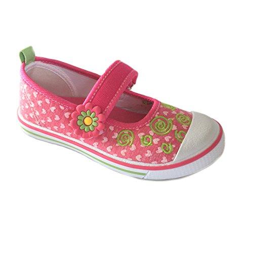 Slobby- Kinder Leinen - Schuhe Ballerina Freizeit - Schuhe - Größe 25-30 Neu Pink