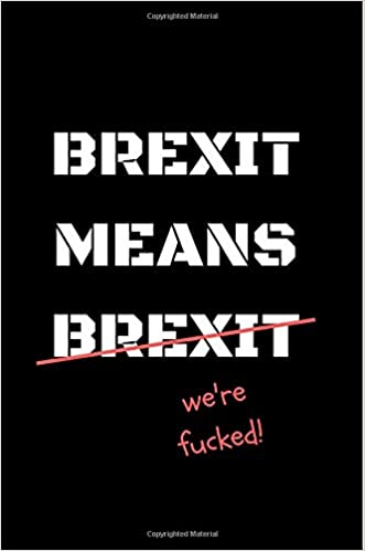 Brexit Means Brexit We Re F Cked Funny Notebook Journal Gift