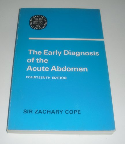 Early Diagnosis of the Acute Abdomen (Oxford Medical Publications)