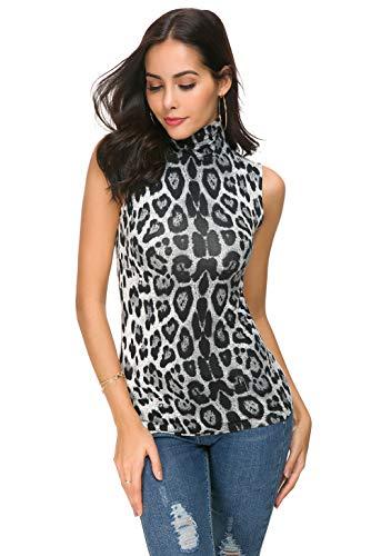 Womens Long Sleeve/Half Sleeve/Sleeveless Mock Turtleneck Crew Stretch Slim T Shirt Layer Top ()