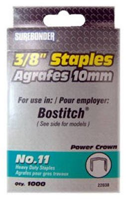 Fpc Corporation #22038 #11 3//8 Heavy Duty Staple