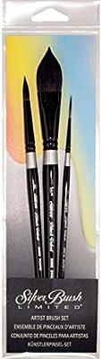 Silver Brush Black Velvet Set of 3
