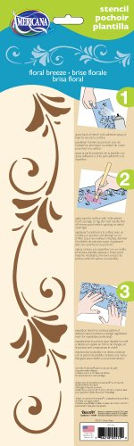 DecoArt 6-Inch-by-18-Inch Stencil Home Decor Series, Floral Breeze