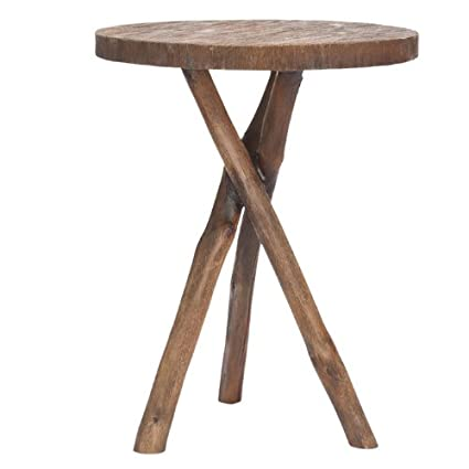 Safavieh American Homes Collection Quinn Brown Tripod Round End Table