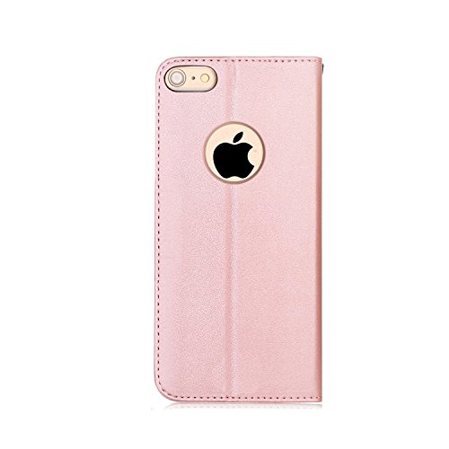FYY Luxury PU Leather Wallet Case for iPhone 6S Plus/iPhone 6 Plus, [Kickstand Feature] Flip Folio Case Cover with [Card Slots] and [Note Pockets] for Apple iPhone 6 Plus/6S Plus (5.5'') Rose Gold by FYY (Image #9)
