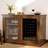 Wine Enthusiast Siena Mezzo Wine Credenza with Touchscreen Wine Refrigerator, 28 Bottle Capacity