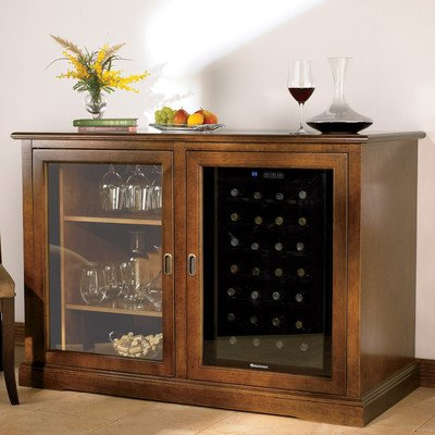 Wine Enthusiast Siena Mezzo Wine Credenza with Touchscreen Wine Refrigerator, 28 Bottle Capacity