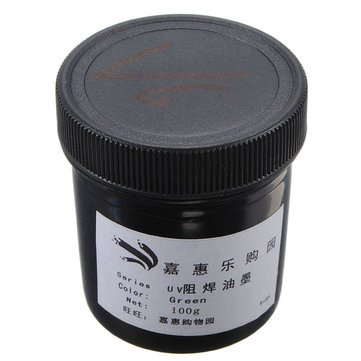 Solder Mask Paint - Anti Corrosion Paint - 100g PCB Curable Solder Mask Repairing Paint Anti-Corrosion ( Uv Curable Paint )