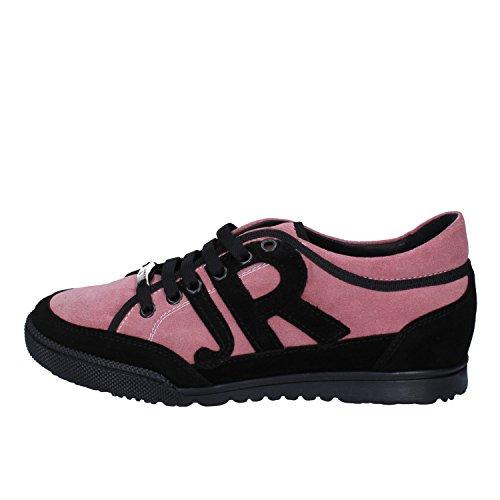 Richmond Zapatos Mujer 36 Sneakers Rosa Negro Gamuza AW710