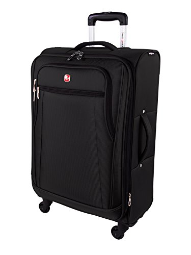 Swiss Gear Cross Country 24-Inch Upright with Expansion, Black, Checked - Medium