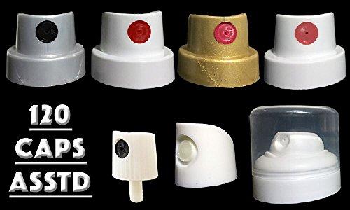 Art Primo Graffiti Cap Pack - 120 Assorted Spray Paint Fat Caps