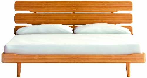 GREENINGTON LLC G0026 Currant Bamboo Platform Bed, Queen, Caramelized (Bamboo Bed Frame Queen)