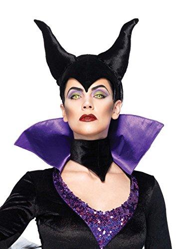 Leg Avenue Women's Disney 3Pc. Maleficent Costume Dress and Head Piece