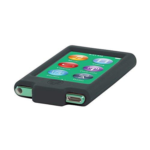 grantw Brentwood Technology Tune banda armbandhalterung para iPod Nano 7A1446con 16GB (silicona, incluye protector de pantalla) negro