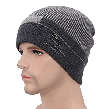 7ad7775c05d HOKUGA Skullies Beanies Men Scarf Knitted Hat Cap Male Plus Gorras Bonnet  Warm Wool Thick Winter
