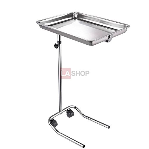Mayo Instrument Stand with Removable Tray Single Post by One Stop Shop