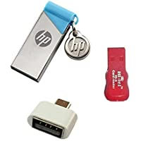 HP 215B 32 GB Metal pendrive with OTG Adapter and Card Reader