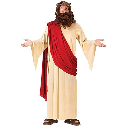 FunWorld Men's Jesus Adult Costume with Crown and Beard, Multi, Standard