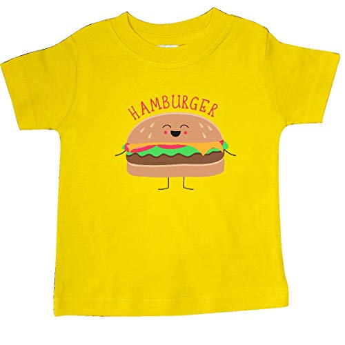 inktastic - Hamburger Costume Baby T-Shirt 18 Months Yellow 31d0b ()