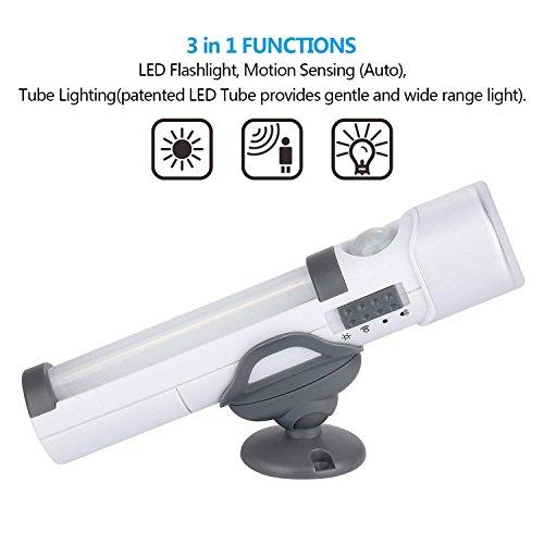 Sensor de movimiento de luz de pared alimentada por batería, portátil, linterna de emergencia para camping, armario, pasillo, armario, dormitorio, ...
