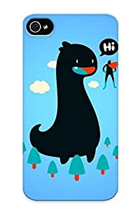 (7158cbc358)durable Protection Case Cover With Design For Iphone 4/4s(super Man And Dinosaur) by lolosakes