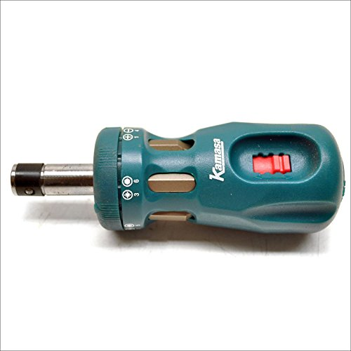 Ratchet screwdriver stubby 12 in 1 Philips / flat / Pozi / hex reversible LSR34 1 Reversible Ratchet