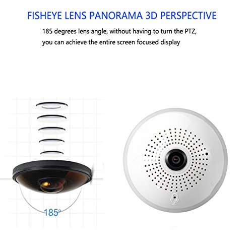 Wireless 360 Security Camera Hidden Fish Eye Security