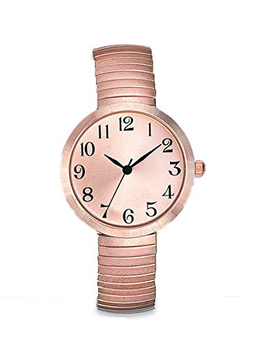 Women's Rose Gold Stretch Band Watch Easy Read Dial