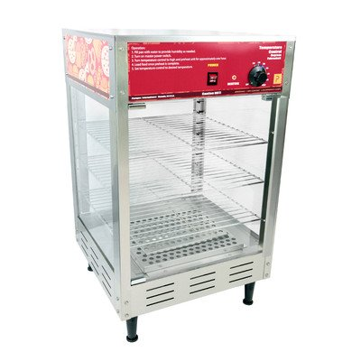"Paragon Hot Food Cabinet Pizza Pretzel Humidified Warming Merchandizer with three 16"" Adjustable Racks for Professional Concessionaires Requiring Commercial Quality & Construction 1000 Watts by Paragon - Manufactured Fun"