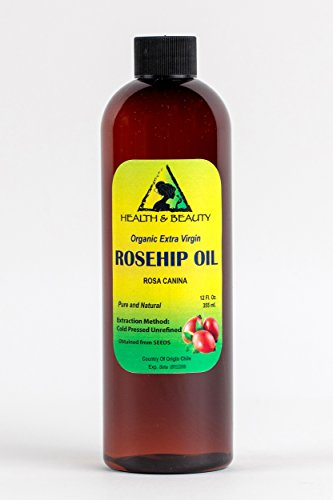 Rosehip Seed Oil Organic Unrefined Extra Virgin Cold Pressed Raw Premium Pure 12 oz