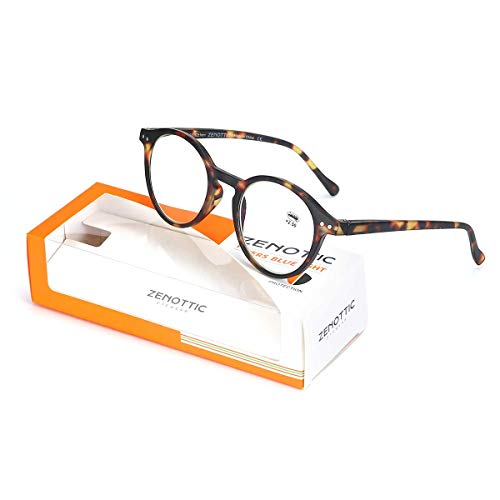 ZENOTTIC Blue Light Blocking Reading Glasses Anti Glare Lens Lightweight Frame Eyeglasses for Men and Women (Tortoise, ()
