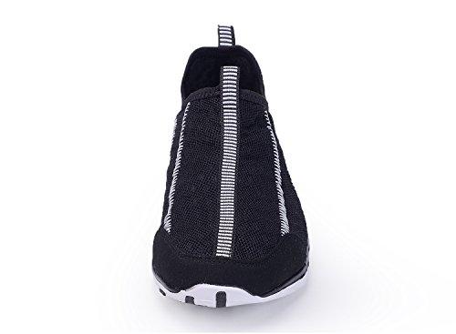 Santiro Unisexe Léger Maille Chaussures Deau Noir