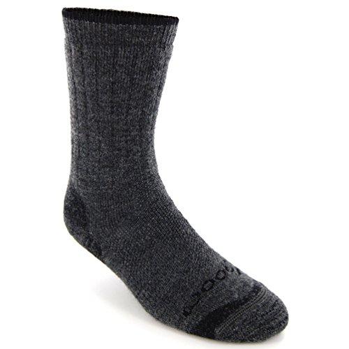 WoolX X590 Hiker Crew Length Sock - Charcoal - XLG