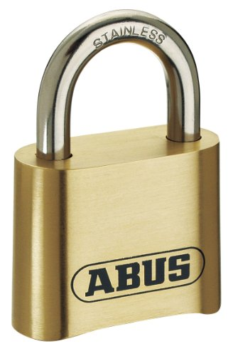 Abus Brass Padlock - ABUS 180/50 Solid Brass Combination Padlock - Stainless Steel Shackle