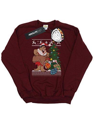 Mujer Borgoña Fair Flintstones Isle Christmas De Entrenamiento Camisa The 5P61xq