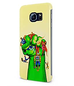 Hulk Smash The Avengers Superheroes Plastic Snap-On Case Cover Shell For Samsung Galaxy S6 EDGE