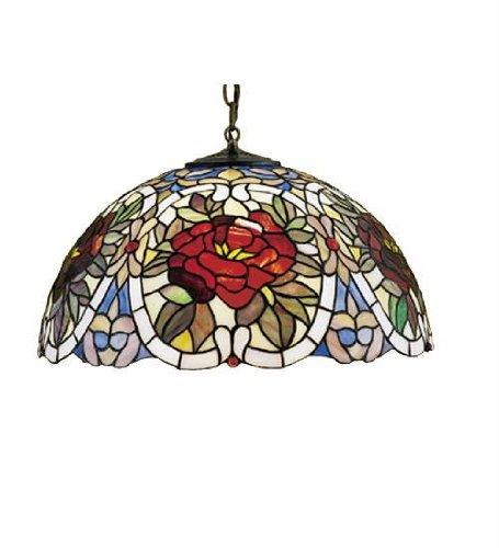 (20 Inch W Renaissance Rose Pendant Ceiling Fixture)