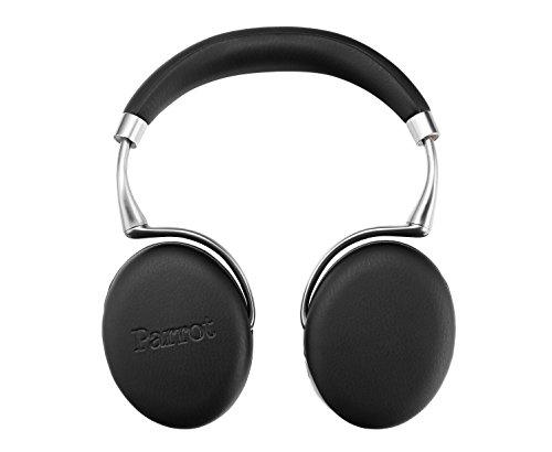 Parrot Zik 3 Wireless Bluetooth Headphones - Adaptive Noise Control, Proximity Sensor, Wireless Charging - Black Leather Grain