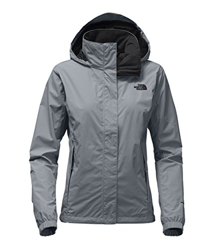 (The North Face Women's Resolve 2 Jacket Mid Grey/TNF Black Large)